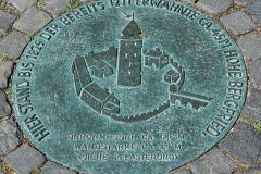 Burg Lüdinghausen | Kennzeichnung des Standortes des früheren Bergfrieds