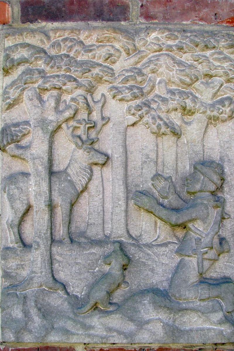 """© """"Burgen in Westfalen""""   Relief in der Vorburg"""