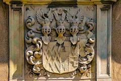 Schloss Westerwinkel | Wappen über Tor zur Vorburg