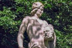 (3) Statue an der Burgallee - Mercurius