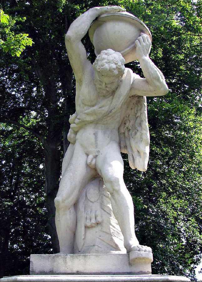 [10] Statue an der Burgallee | Atlas